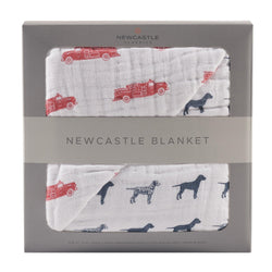 Fire Truck and Dalmatian Newcastle Blanket - Allccess