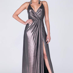 LONG DRESS FOR PARTY WITH SLIT - Allccess