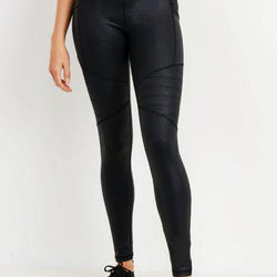 Highwaist Foil Moto Pocket Leggings - Allccess