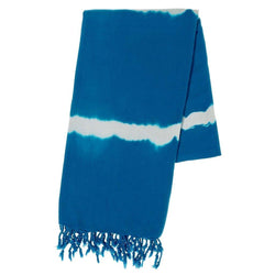 Lapis Tie Dye Turkish Beach Towel - Allccess