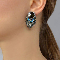 Stud earrings with Swarovski stones - Allccess