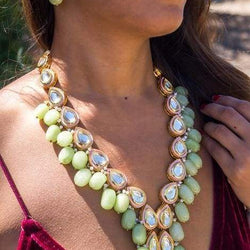Jade Necklace and Earrings Set - Allccess