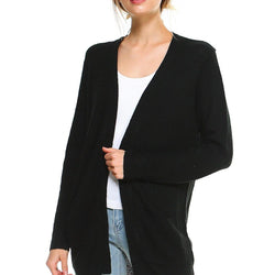 Longline Sweater Cardigan with Pockets - Allccess