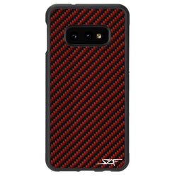 Samsung S10e Red Carbon Fiber Phone Case | CLASSIC Series - Allccess