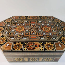 Luxurious Mother of Pearl Syrian Mosaic Box - Allccess