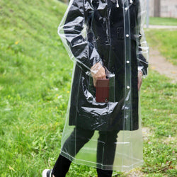Transparent reusable raincoat - Allccess