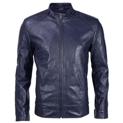 Mens Halem Sport Leather Jacket - Allccess