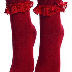LUISA red socks with lace for children - Allccess