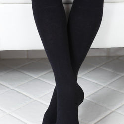 KRISS black cotton knee highs for children - Allccess