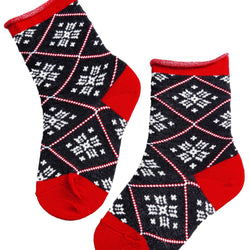 MISS SNOW patterned merino socks for children - Allccess