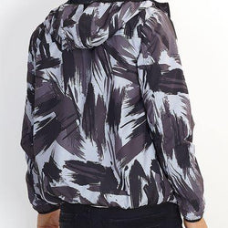 ABSTRACT CAMOUFLAGE PRINT HOODED LIGHTWEIGHT JACKET - Allccess