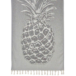 Gray Pineapple Turkish Beach Towel - Allccess