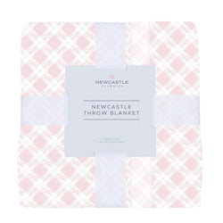 Primrose Pink Plaid Newcastle Throw Blanket - Allccess