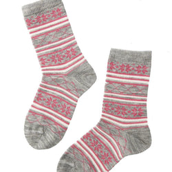 SNOW grey merino socks for children - Allccess
