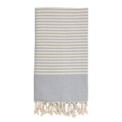 Textured Stripe Turkish Towel - Allccess