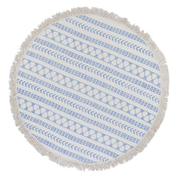 Stripe Block Print Roundie Beach Blanket - Allccess
