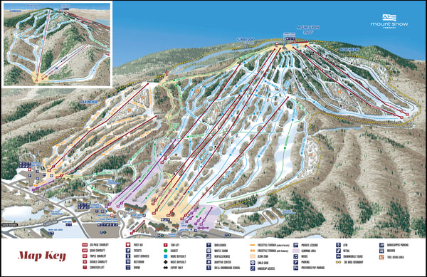 Large Mount Snow Trail Map