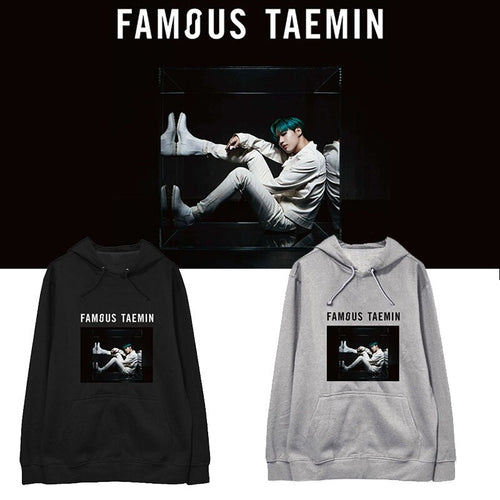 Kpop SHINee FAMOUS TAEMIN Same Cap Hoody Coat Autumn Winter Snow Suit Long Sleeve Hoodies Outerwears Sueter