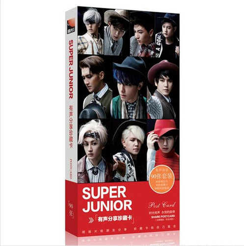 kpop SJ Set concert SUPERJUNIOR album Lyrics LOMO card 90 k-pop 2016 sj Latest official super junior Collectible Postcards photo