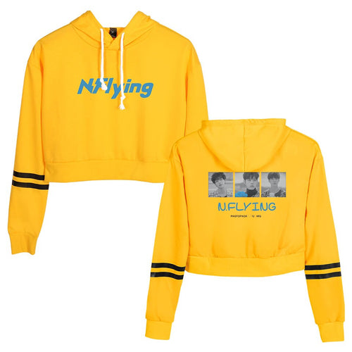 2019 N.Flying Hoodies Kpop Autumn Women Hoodies Sweatshirt Fashion Crop Hoodies Sweatshirts Harajuku Long Sleeve Pullover