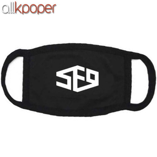 SF9 Unisex Black Mask