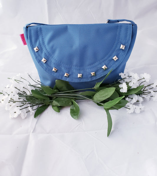 Lola Cross-body: Blue + Gems