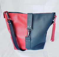 Two-Tone Leather Mini Satchel
