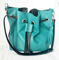 The Bucket Bag - Teal/Black