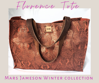 The Florence Tote - Red Snake Printed