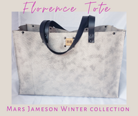 The Florence Tote - Grey + Silver
