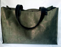 The Florence Tote - Olive + Silver Accent