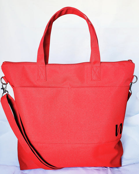 The Daily Bag- Bright Red