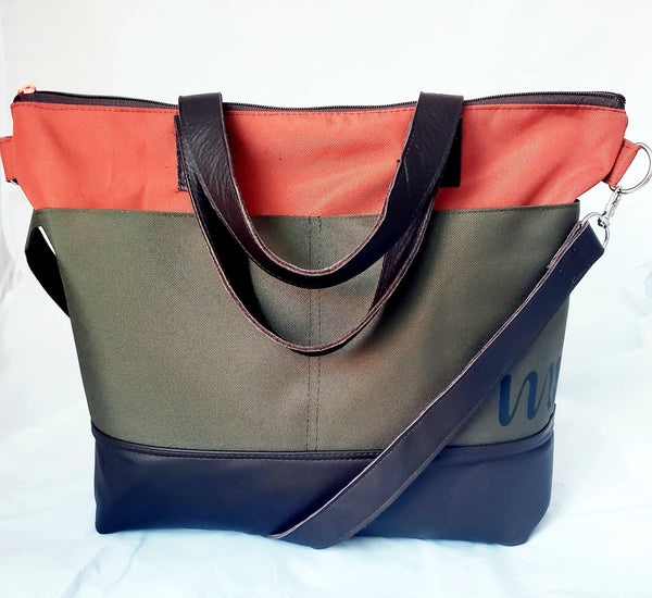 The Daily Bag- Brown + Rust + Olive