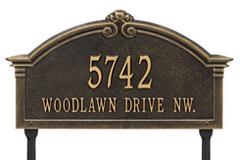 Lawn House Marker