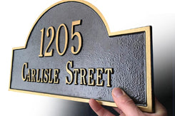 Whitehall Products House Number Plaque