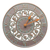01281 Ivy 12 Inch Indoor Outdoor Wall Clock - Copper Verdigris