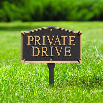 01427 Private Drive Statement Plaque - Wall or Lawn Mount