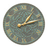 02167 Artisan 16 Inch Indoor Outdoor Wall Clock - Bronze Verdigris