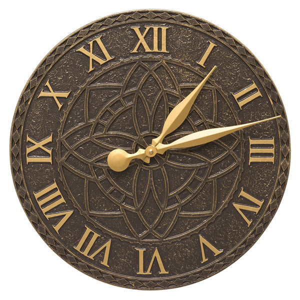 02168 Artisan 16 Inch Indoor Outdoor Wall Clock - French Bronze