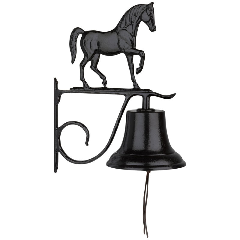 04007 Bell with Horse Ornament - Black