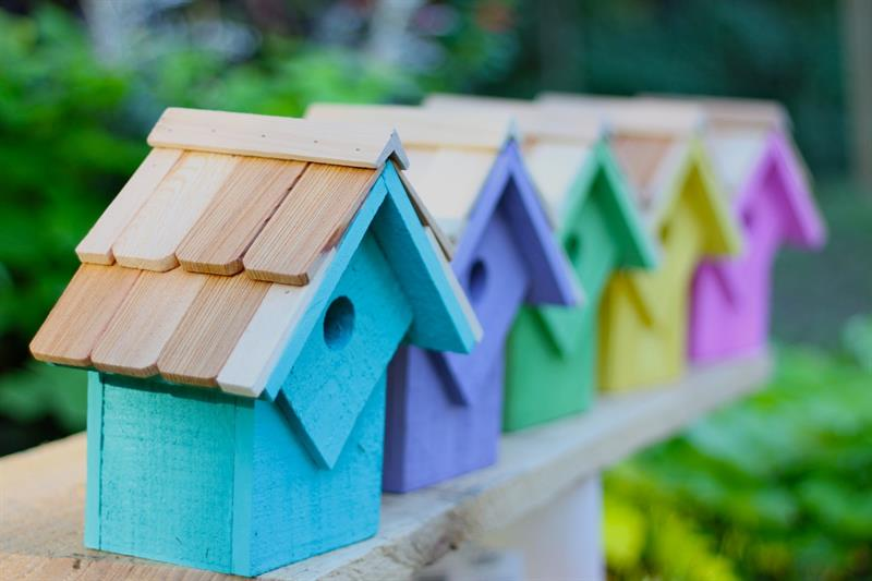 087B Summer Home Bird House - Assorted Colors