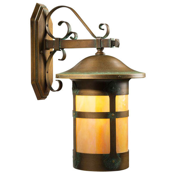 103-1 Holly Scroll Arm Wall Mount Lantern