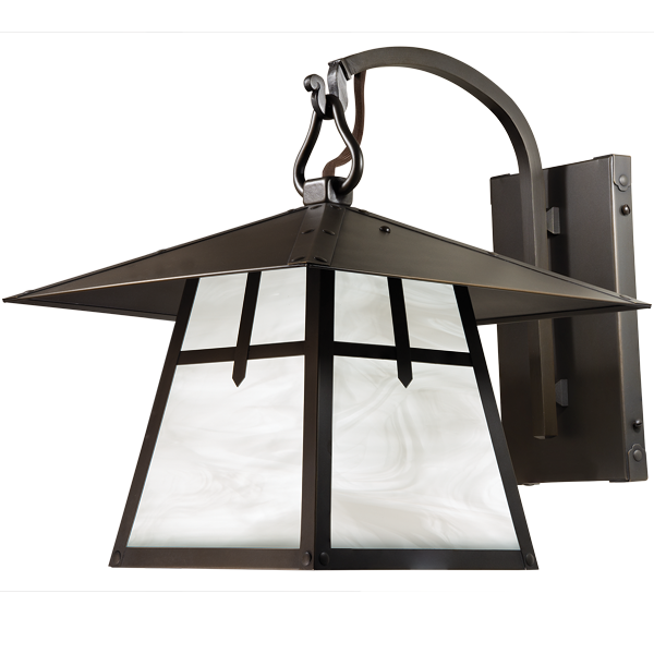 Palisades Hooked Arm Wall Mount Lantern 424-1