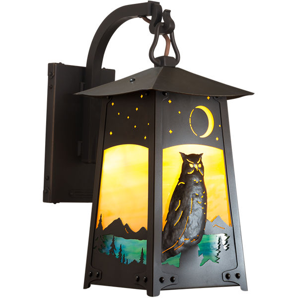 Baldwin Curved Arm Wall Mount Lantern 1-604