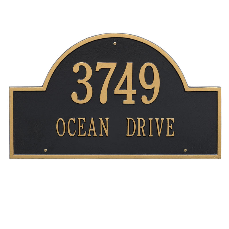 1002 Arch Marker Estate Wall Address Plaque - 2 Line