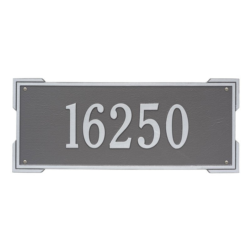 1019 Roanoke Plaque Estate Wall Address Plaque - 1 Line