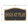 10375 Dogs At Play Sign - Wall or Lawn Mount