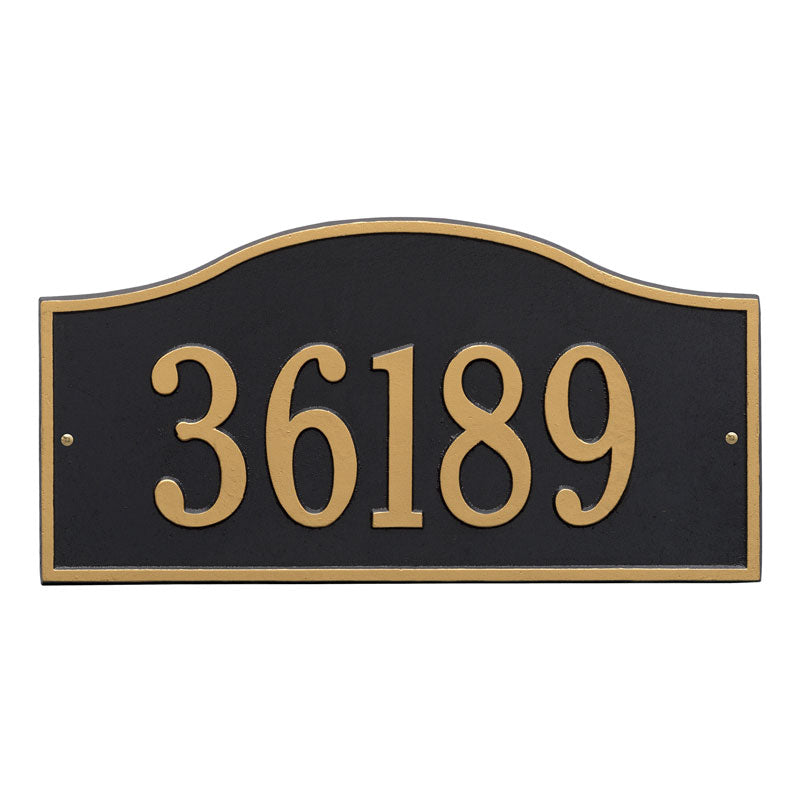 1119 Rolling Hills Plaques Grande Wall Address Plaque - 1 Line