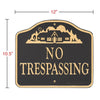 14131 No Trespassing Sign - Wall or Lawn Mount