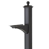16232 Balmoral Post & Bracket with Ball Finial - Black